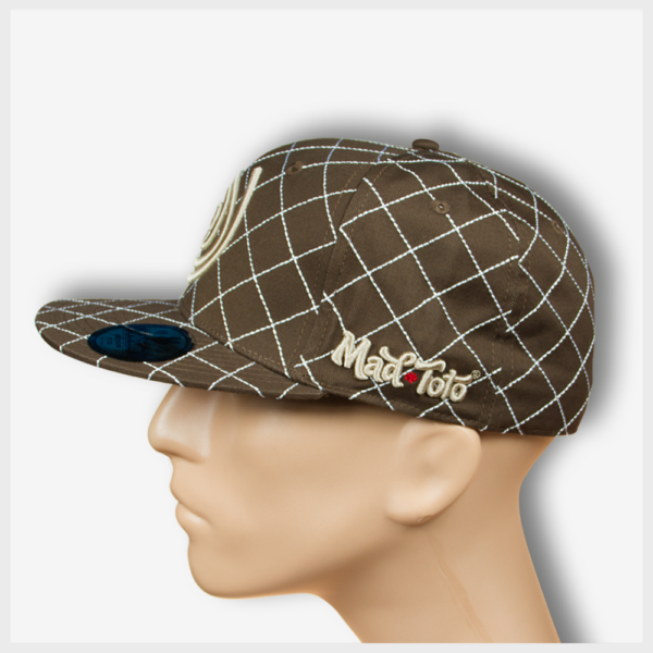 Mad Toto CrissCross Hat - Brown Left view 420 Apparel