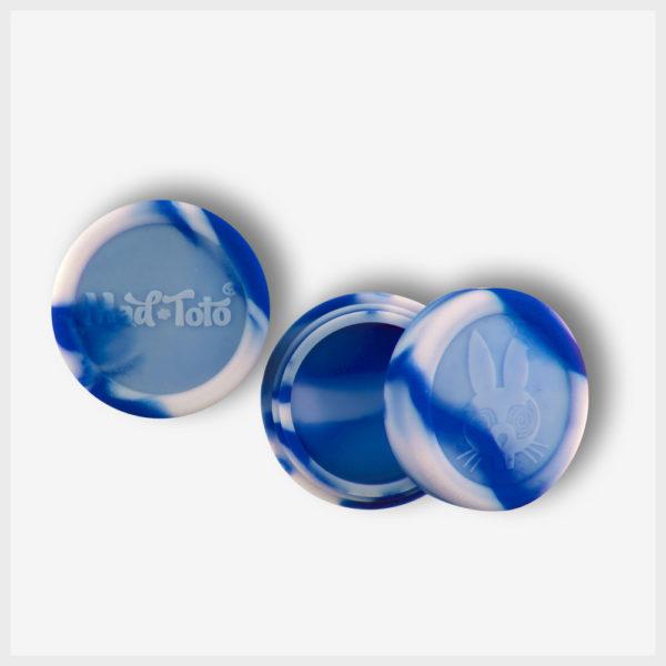 Mad Toto Silicone Jar - Blue / White