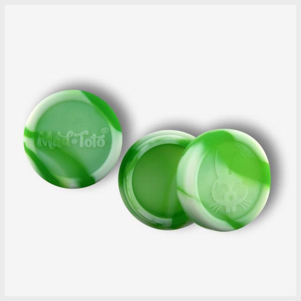 Mad Toto Silicone Jar - Green / White