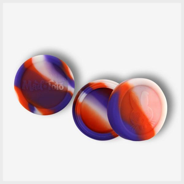 Mad Toto Silicone Jar - Orange / Purple / White