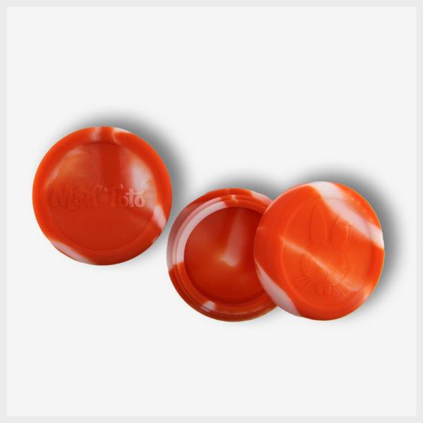 Mad Toto Silicone Jar - Orange / White