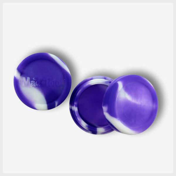 Mad Toto Silicone Jar - Purple / White
