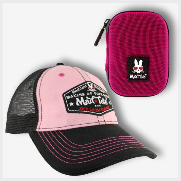 Mad Toto - Pink Panther Kit, 420 Stash Case/Pipe Case & Pink Hat