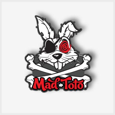 Mad Toto Skull N Bones Sticker