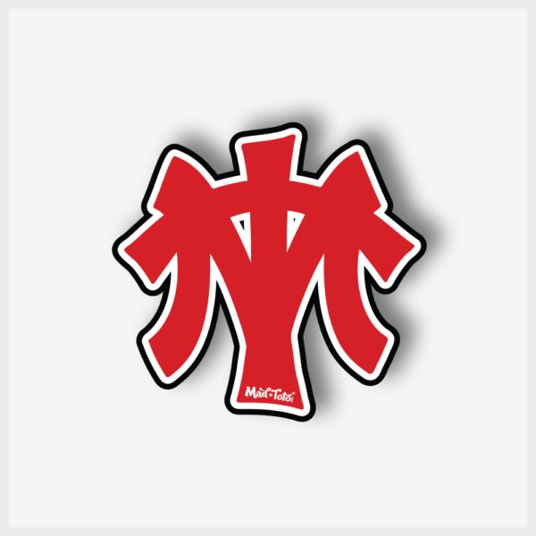 "Mad Toto ""MT"" Logo Sticker - Large"