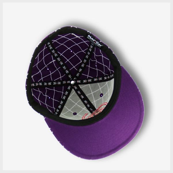 Mad Toto CrissCross Hat Inside View - Purple 420 Apparel