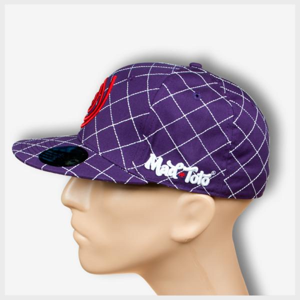 Mad Toto CrissCross Hat Left View - Purple 420 Apparel