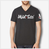Distressed Logo V-Neck Front 420 Apparel by Mad Toto