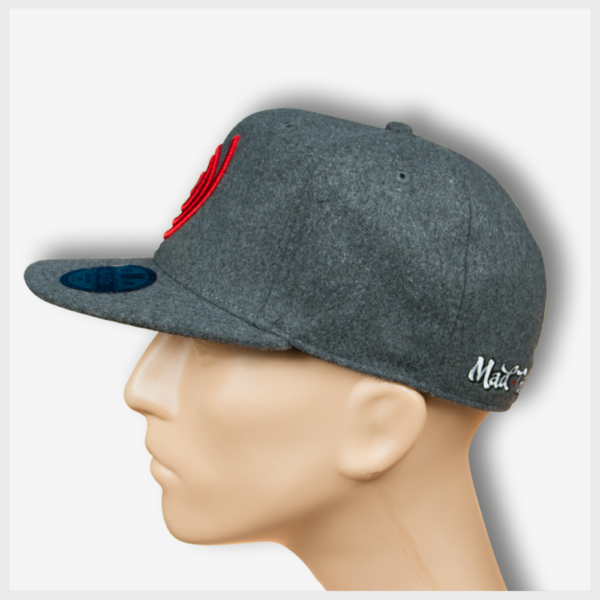 Mad Toto Grey Wool Flannel Fitted Hat Left View Mad Toto 420 Apparel