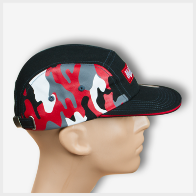 Mad Toto 5 Panel Hat - Red Camouflage Right View 420 Apparel